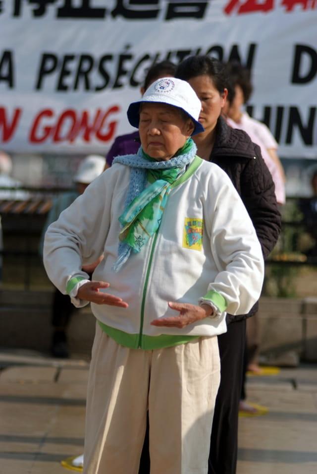 Manifestation  contre le génocide chinois