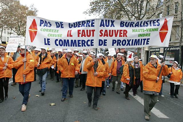 Manifestation des buralistes