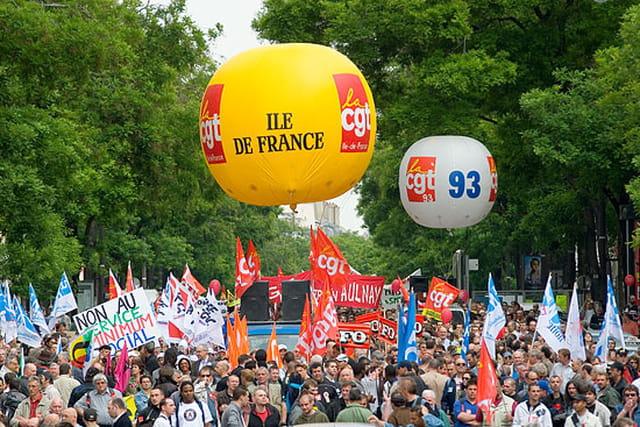 Manifestation pour la défense des retraites