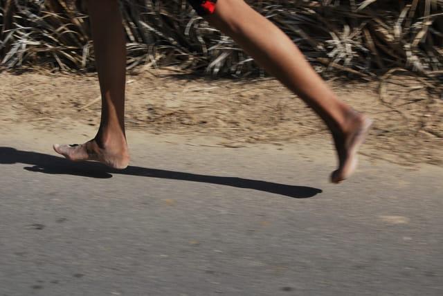 marathon à l'oasis de Douz ! la marque des  baskets ne fait pas la différence