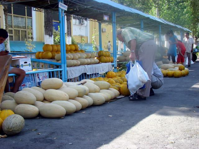 Marché de melons
