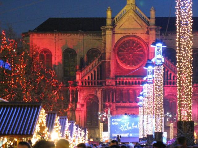 Marché de Noël et église Ste Catherine
