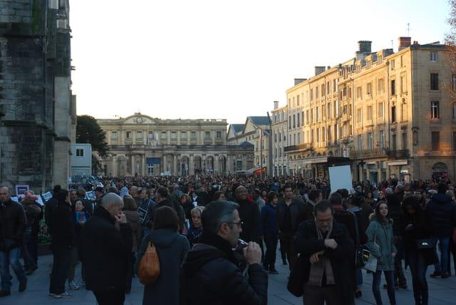 marche pour la défense de la liberté à Bordeaux