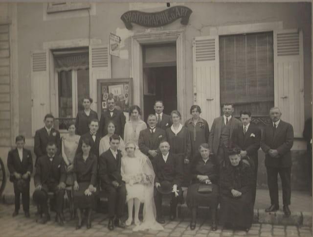 Mariage 1928 à Nemours