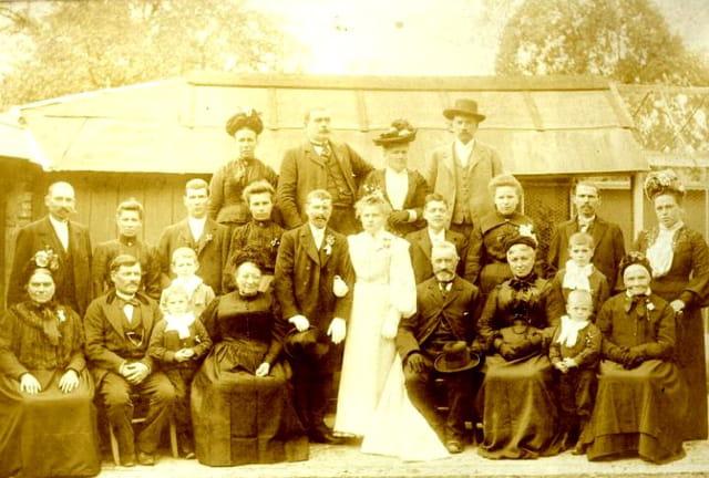 Mariage de mes grands-parents  à Gravigny - 8 octobre 1904