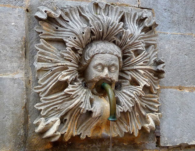 Mascaron de la fontaine d'Onofrio
