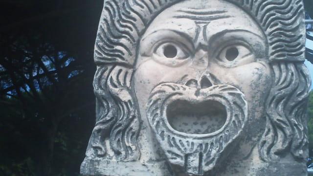 Masque de théâtre romain