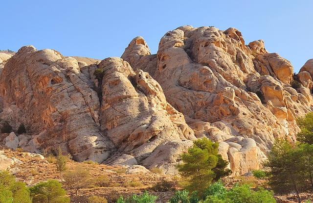 Massifs gréseux près de la ville antique de Petra