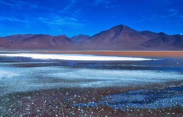 Matin glacial à la Laguna Colorada