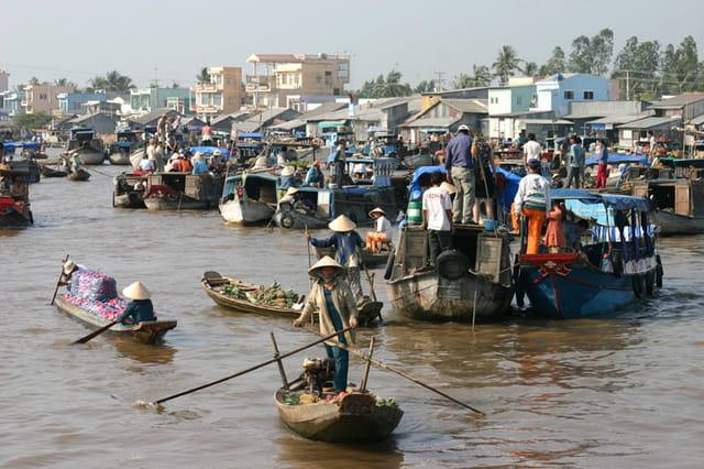 Mekong - marché flottant