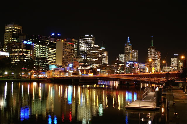 Melbourne by-night.