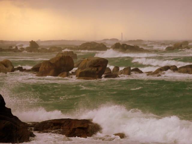 Mer agitée à Kerlouan