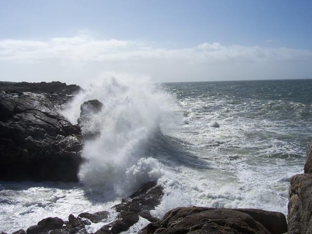 Mer déchaînée - Vague - Batz Sur Mer - La Dilane - 12-08-2008