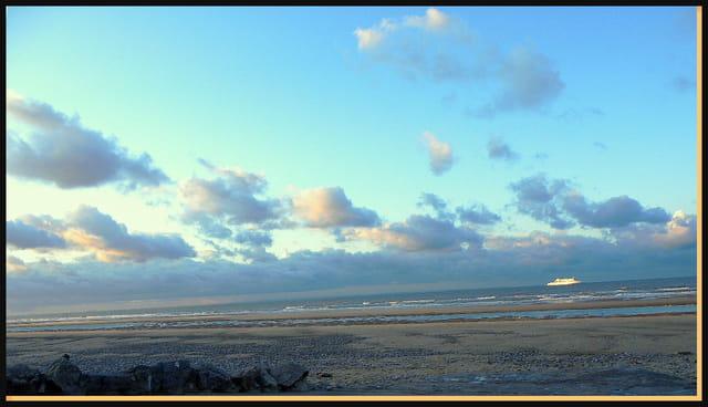 Mer et ciel en hiver
