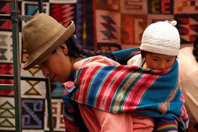 Mère et enfant indiens