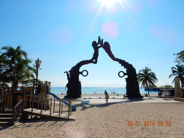 MEXIQUE Riviera Maya, plage de playa del carmen