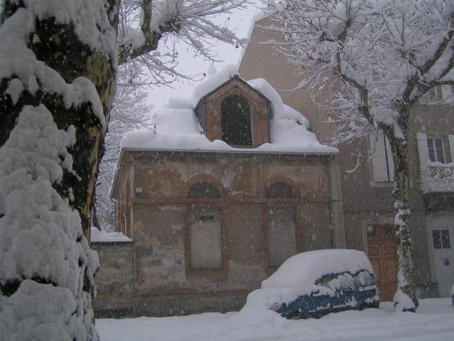 Millau sous la neige
