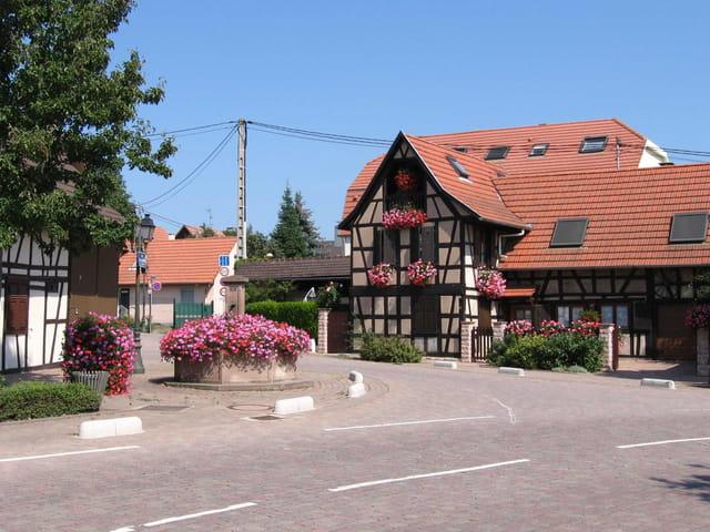 Mittelhausbergen, village fleuri