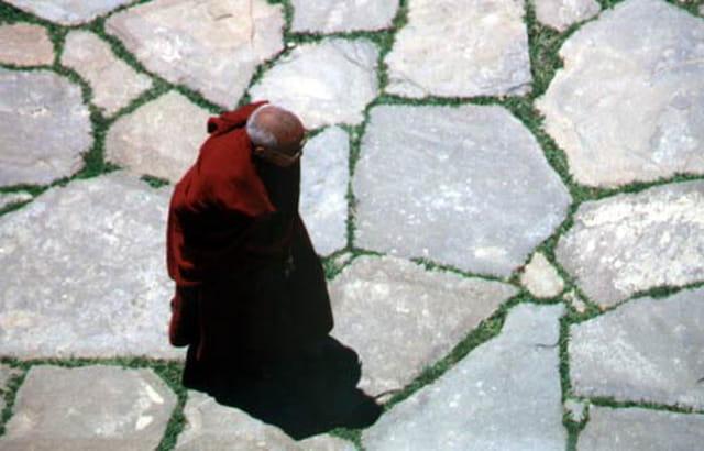 Moine tibétain en Chine