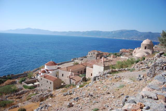 Monemvassia ville byzantine, fortifiée