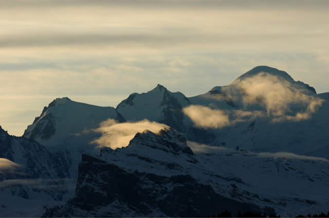 Mont-blanc au lever du soleil