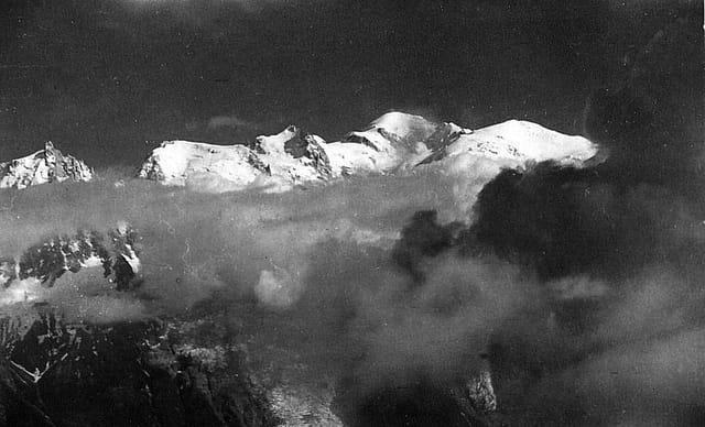 Mont blanc vu du Brévent
