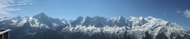 Mont-Blanc vu du Brévent