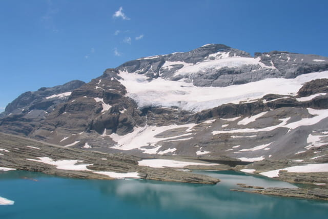 Mont perdu lac glacé