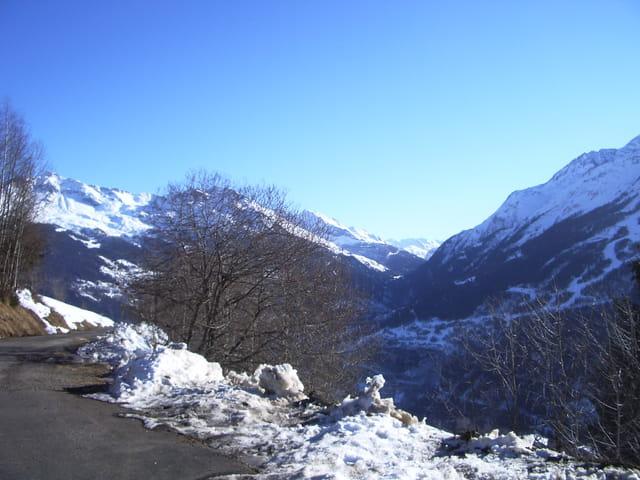 Montée vers la station de ski de La Rosière