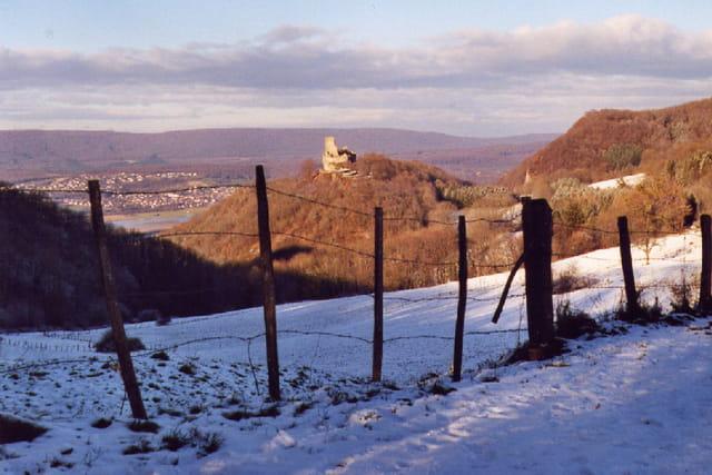 Montfaucon sous la neige