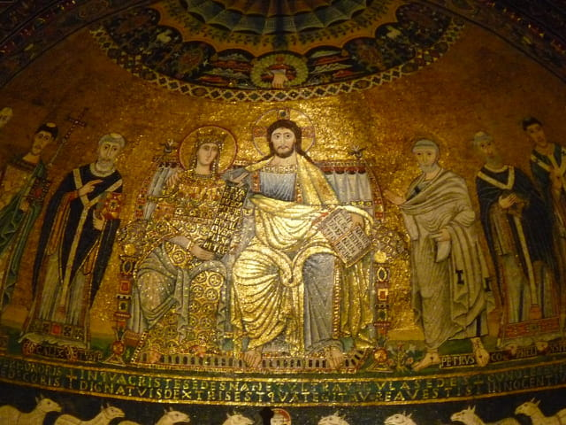 Mosaïque en Sainte-Marie-en-Trastevere
