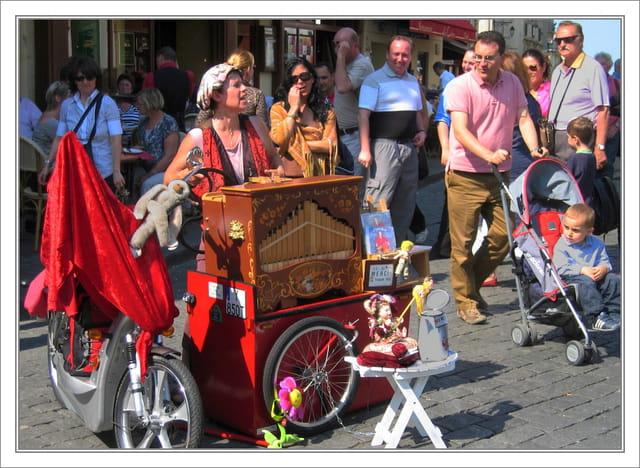 Musicien de rue à Montmartre