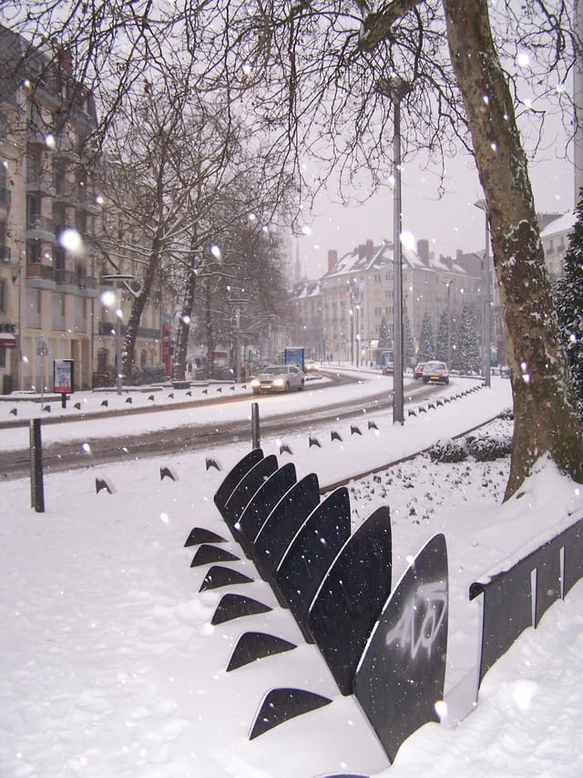 Nantes sous la neige