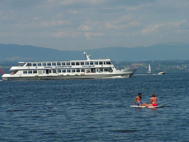 Navigation sur le lac leman