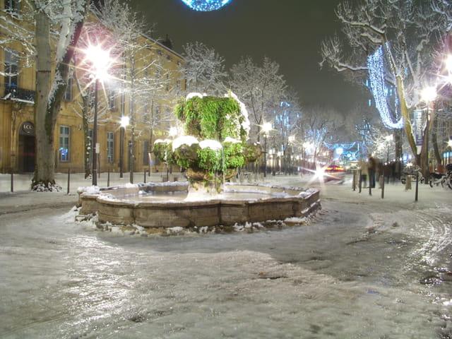 Neige à Aix en Provence