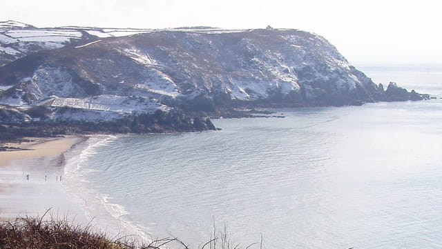 Neige à la mer