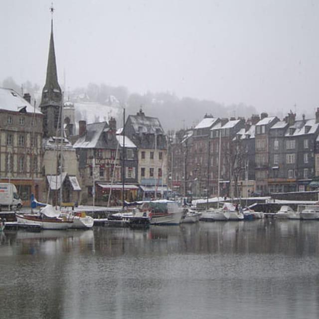 Neige sur le port