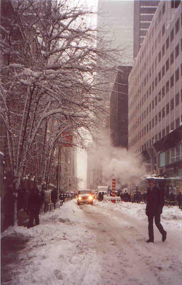 New-York sous la neige