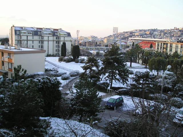 Nice sous la neige