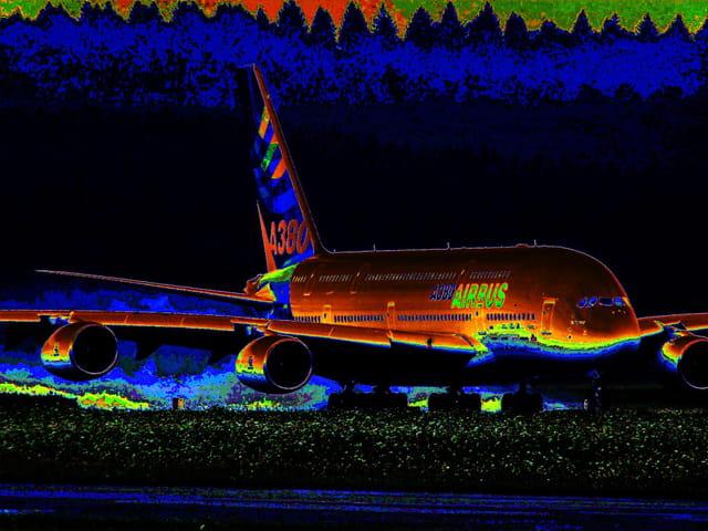 Nouvelle livrée numérique de l'A380.