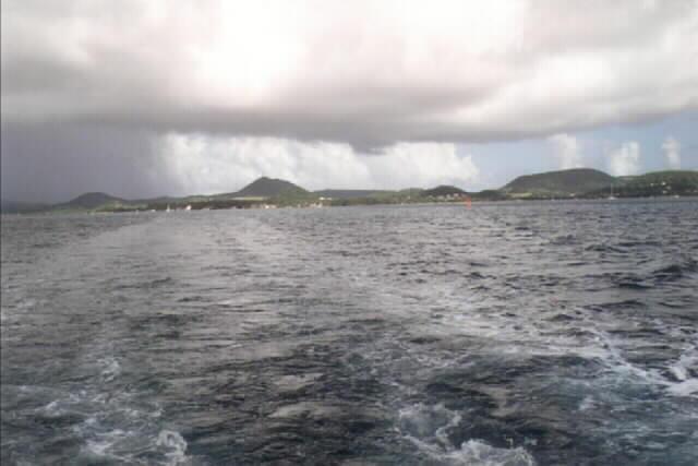 Nuages et mer