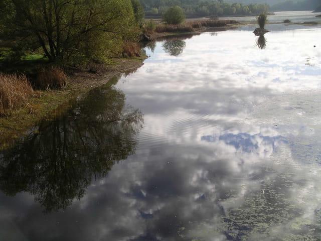 nuages sur l'eau