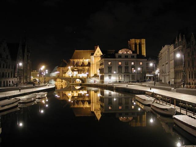 Nuit d'hiver à Gand