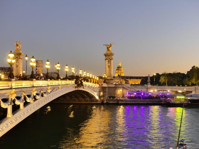 Nuit sur le Pont Alexandre III