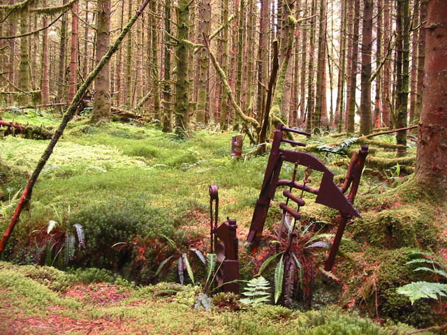 Oeuvre en forêt