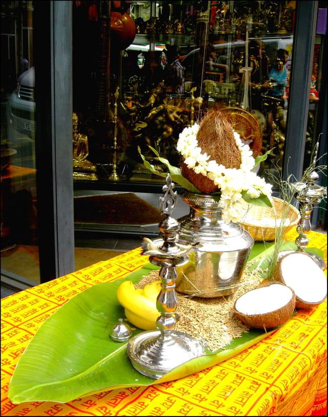 Offrandes rituelles à Ganesh