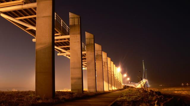 Ombres et lueurs au Pont de Normandie
