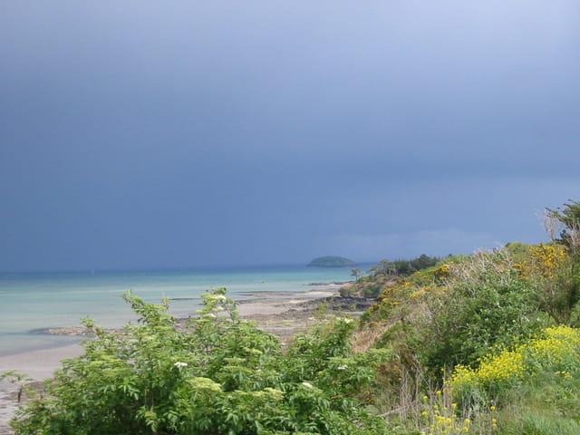 Orage sur la côte bretonne