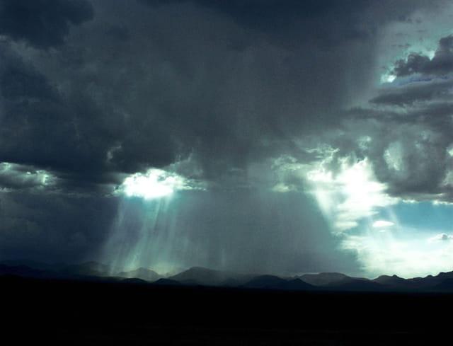 Orage sur le désert Mojave