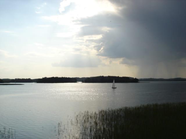 Orage sur le lac